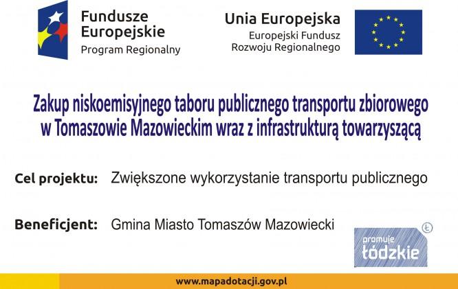 Zakup niskoemisyjnego taboru publicznego transportu zbiorowego w Tomaszowie Mazowieckim wraz z infrastrukturą towarzyszącą