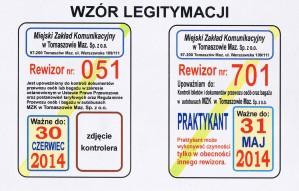 wzór leg kontrolera biletów